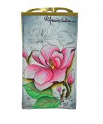 Etui ochelari Floral Fantasy, din piele naturala - Anuschka