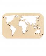 harta lumii lemn