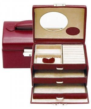 cutie bijuterii piele