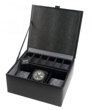 cutie 3 ceasuri piele