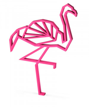figurina decorativa flamingo