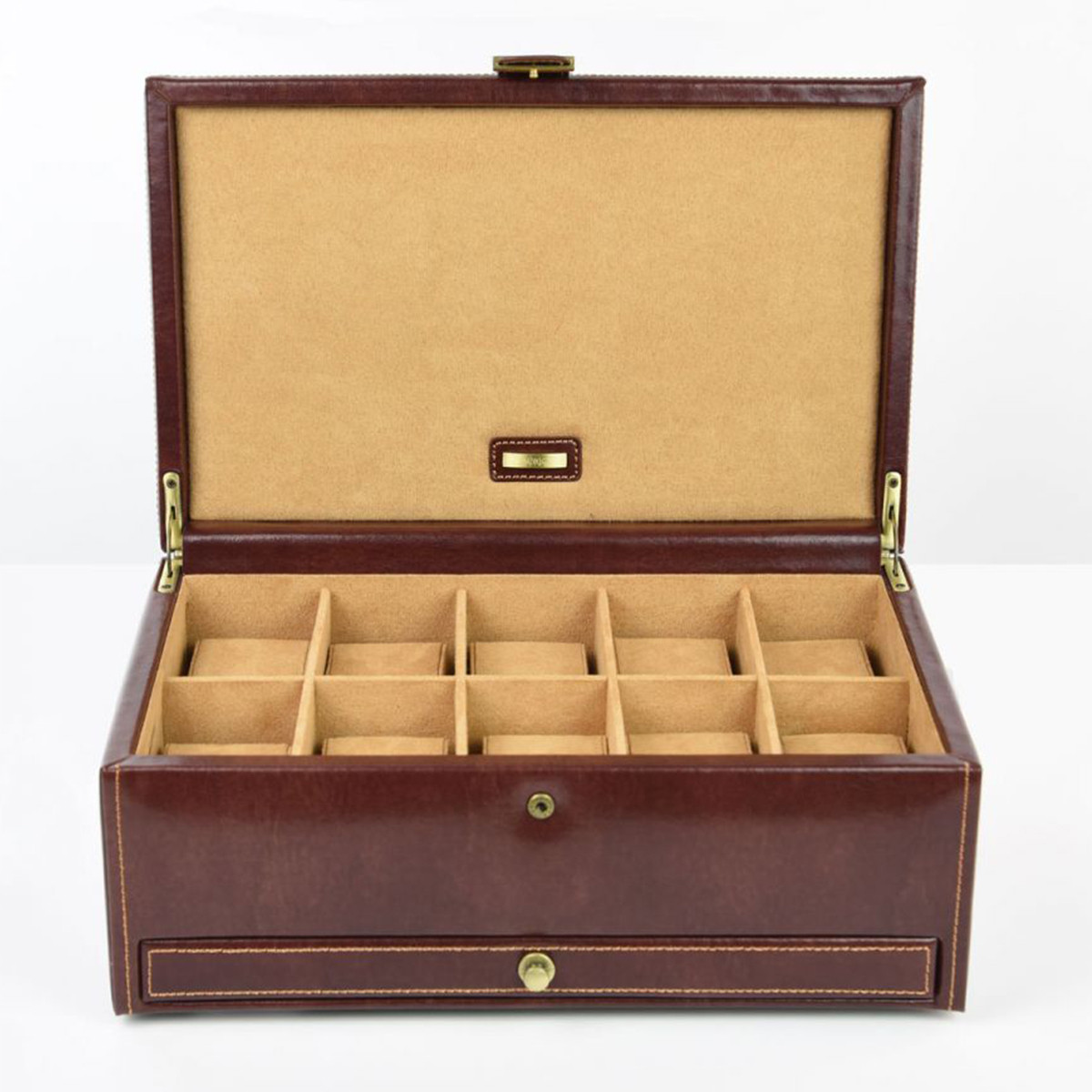 cutie ceasuri piele naturala