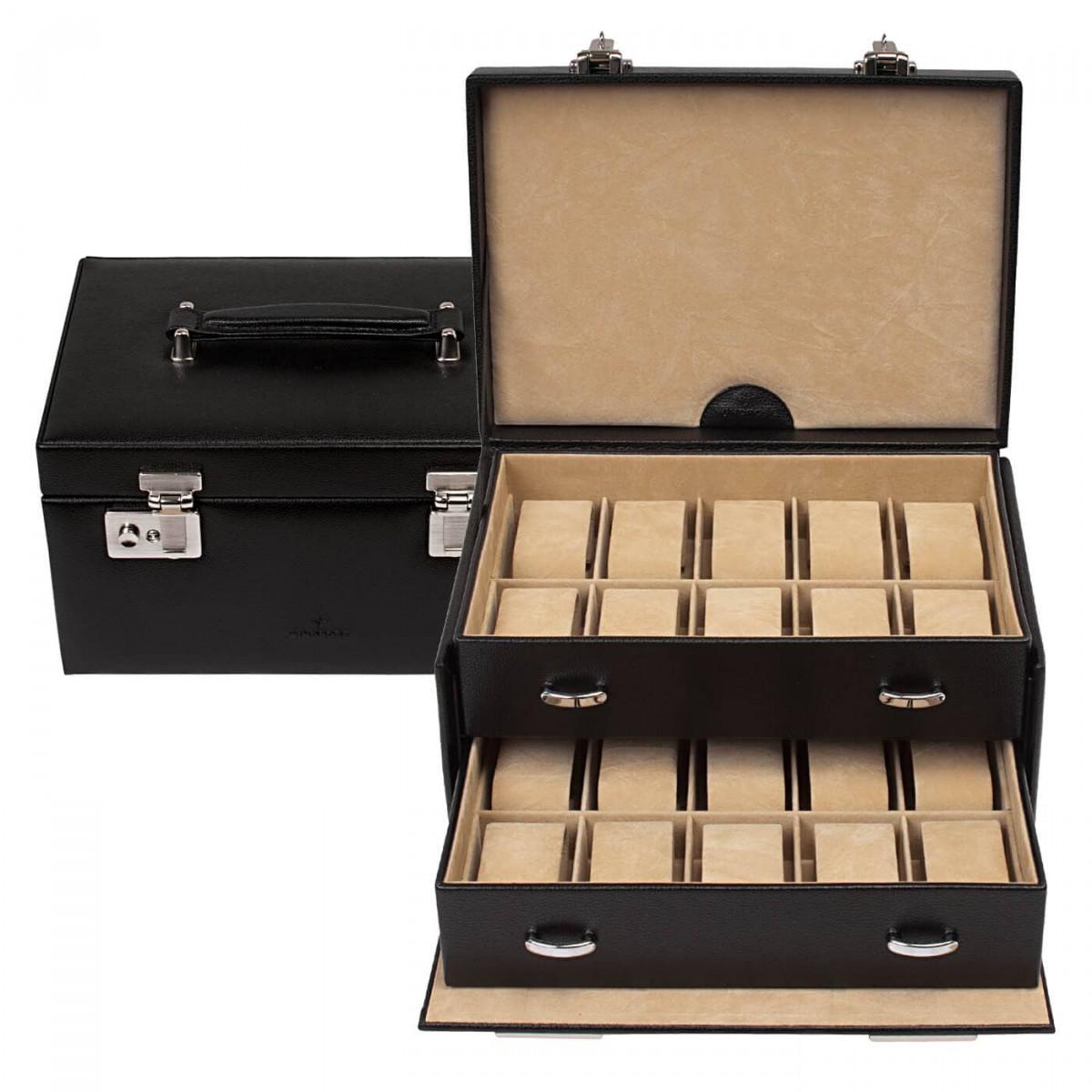 cutie ceasuri din piele naturala