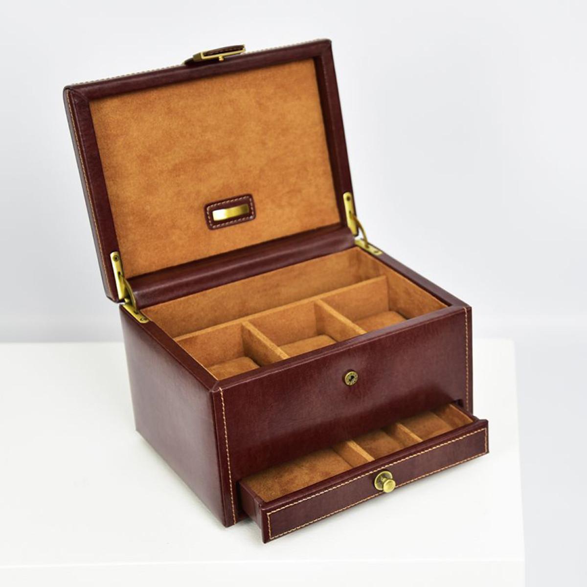 cutie din piele pentru ceasuri