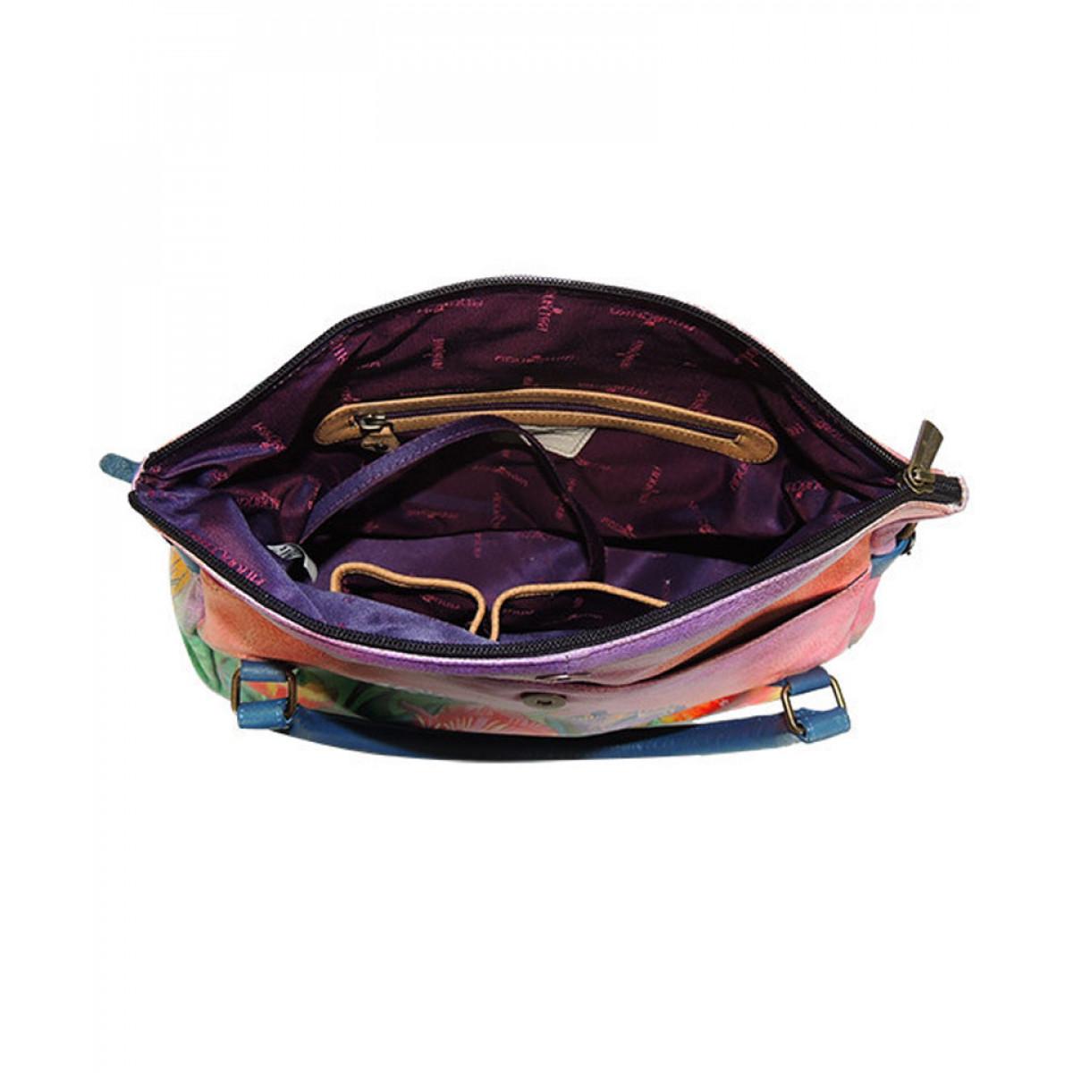 interior geanta piele naturala