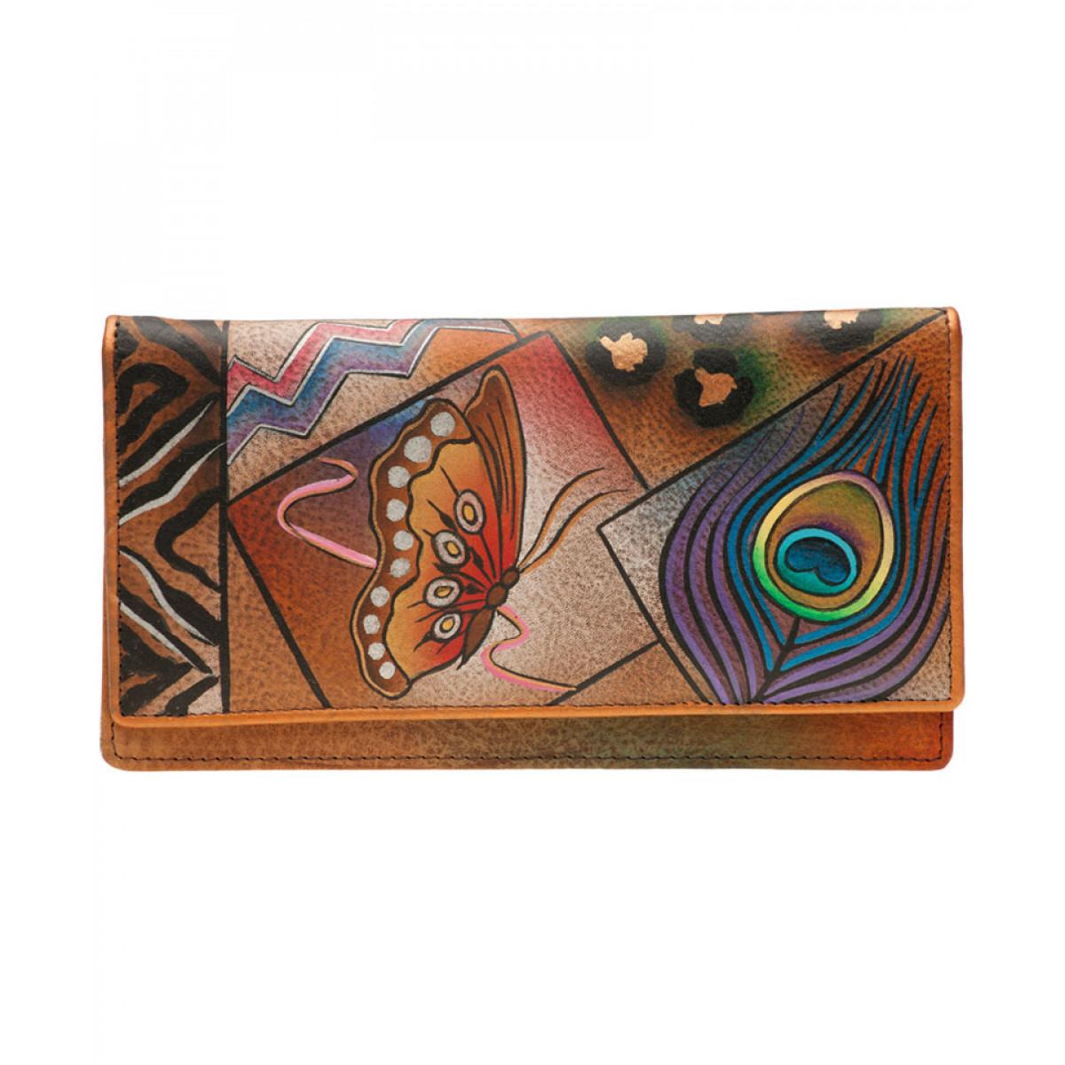 portofel piele dama handmade