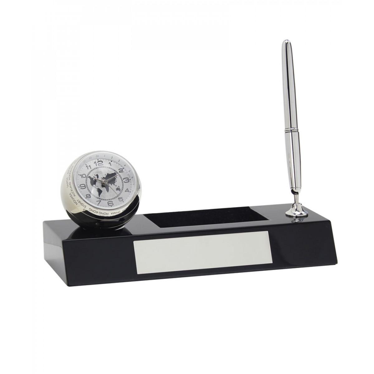 Set accesorii birou cu ceas si pix,personalizabil